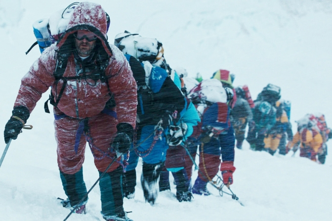 FILM STILL - EVEREST - Rob Hall (JASON CLARKE) leads the expedition in